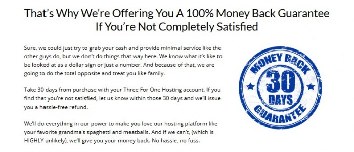 Three For One Hosting Unlimited Package