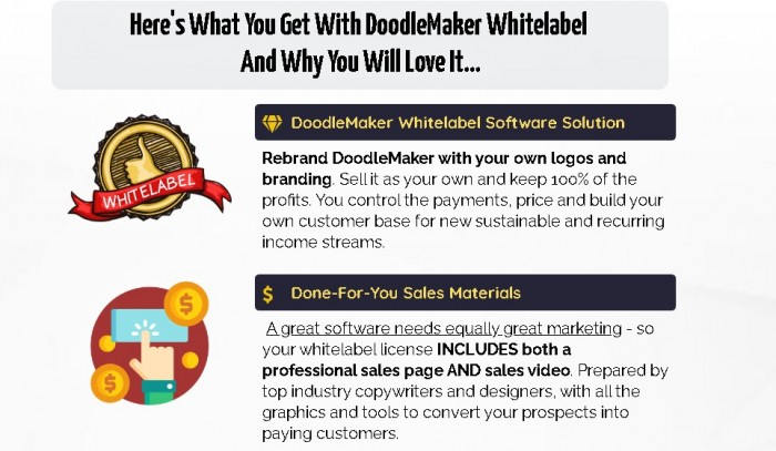 DoodleMaker Whitelabel Review OTO Upsell Software